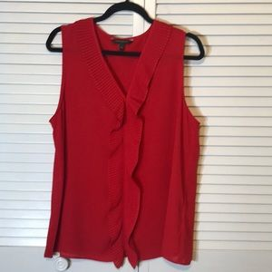BANANA REPUBLIC Sleeveless red top size L